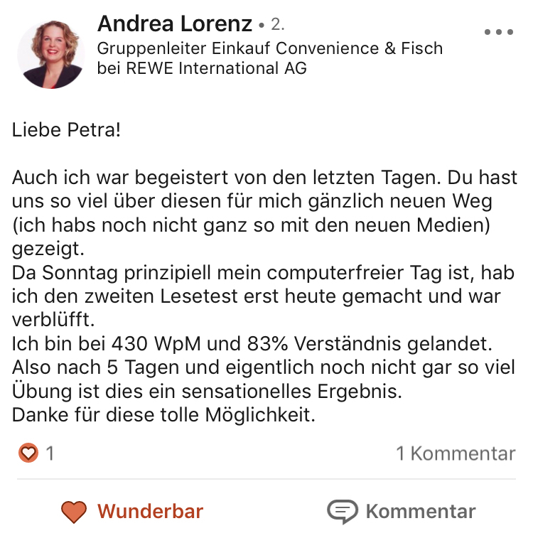 Testimonial Andrea Lorenz