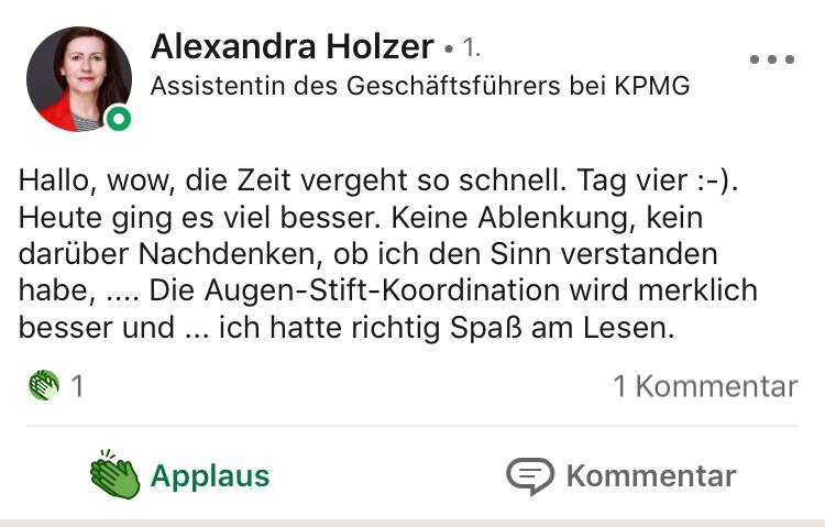 Testimonial Alexandra Holzer